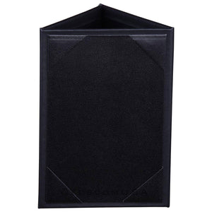Yescom 10x Leather 3 Sided Table Tent Menu Sign Holder Bar Cafe