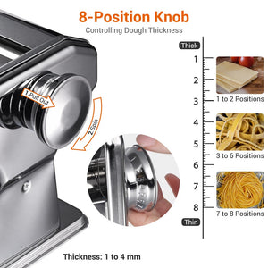 Yescom Pasta & Noodle Maker Machine Integrated 3 Pasta Rollers