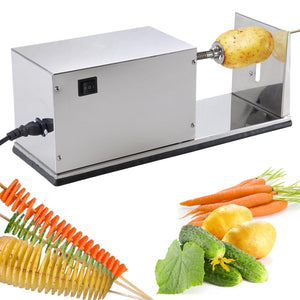 Yescom Electric Twist Potato Cutter Automatic Stainless Steel