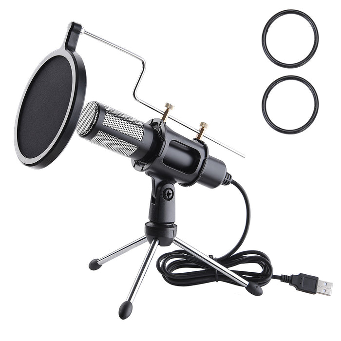 Yescom Condenser USB Microphone & Tripod Stand Kit Chatting Recording