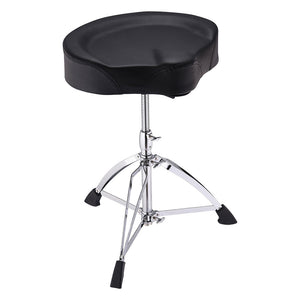 Yescom Large Saddle Drum Throne Adjustable Folding Drummer Stool