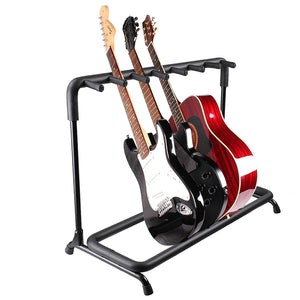 Yescom Stage Guitar Bass Stand Folding Display Rack 3/ 5/ 7/ 9 Opt