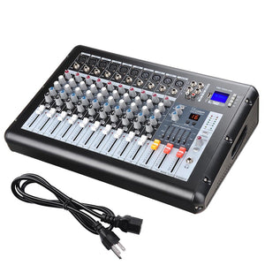 Yescom Music Powered Audio Mixer/Amplifier DSP USB 10 Channels