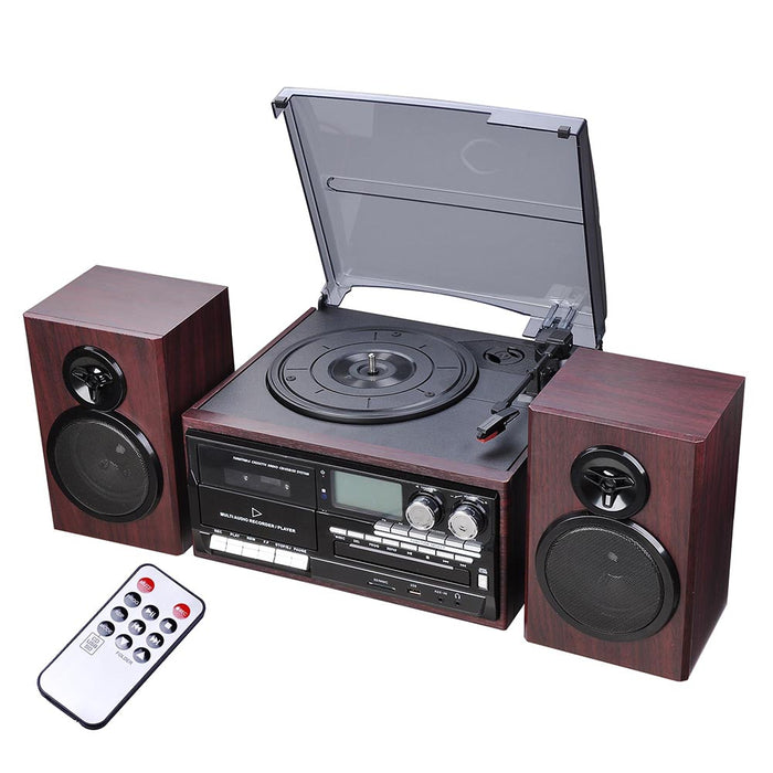 Yescom Bluetooth Vinyl Record Player Turntable Audio System Speakers