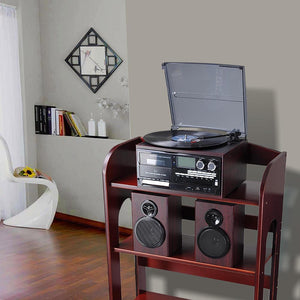 Yescom Bluetooth Vinyl Record Player Turntable Audio System Speakers (Preorder)