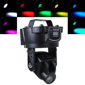 Yescom Stage LED Spot Light 15w Mini Moving Head DJ DMX Lighting