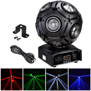 Yescom 4in1 LED Moving Ball Light RGBM DMX Stage Party 40w
