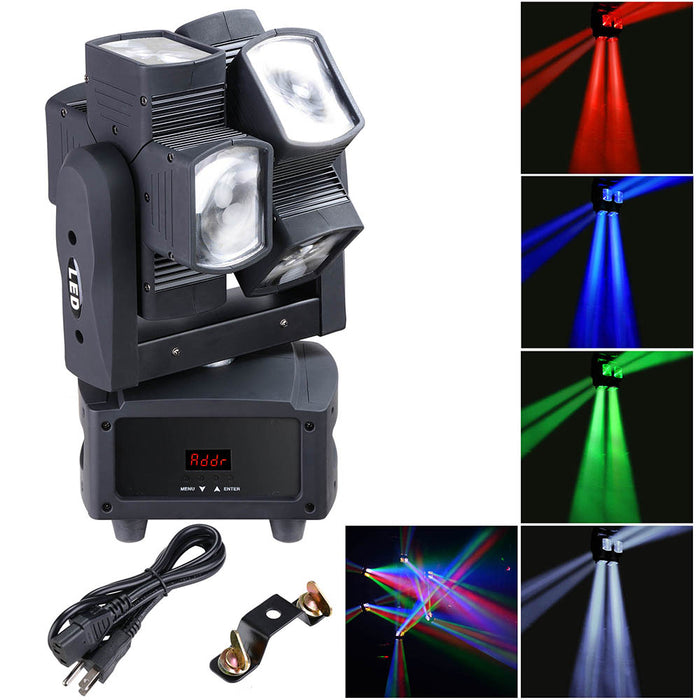 Yescom DMX LED Moving Head Light Party Stage RGBW 8x10w Dual-Wheel