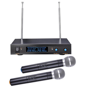 Yescom 2-Channel VHF Wireless 1 Pair Handheld Microphone System