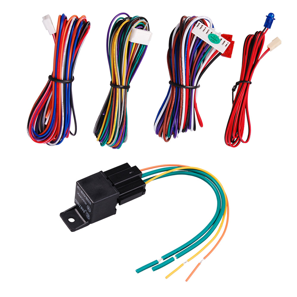 2 Ways Car LCD Alarm Auto Security System with Remote 3000ft FSK Communication Range Six-Tone 120db Siren US Delivery