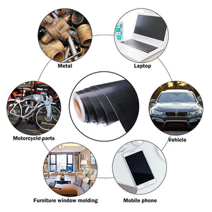 Yescom Carbon Vinyl Wrap Roll 5' x 100' Auto Car 4D Sticker Black (Preorder)
