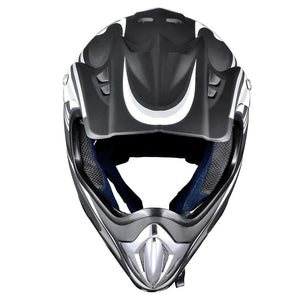 Adult DOT Off-road Race Helmet Dirt Bike MX ATV Black Size Opt