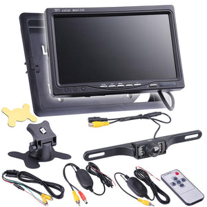 Yescom 7 inch Wireless Rearview Camera TFT LCD Monitor Kit