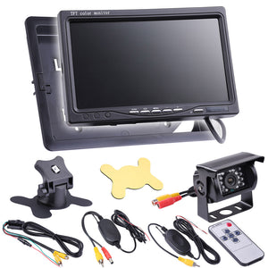 Yescom 7 inch Wireless Rear View TFT LCD Monitor Upright Kit