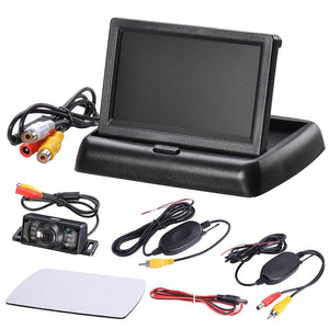 Yescom 4.3 inch Wireless Car Rear View Backup Camera Kit