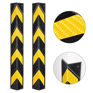 Yescom 2pcs Rubber Corner Guards for Walls Reflective 31""