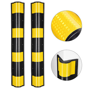 "Yescom 2pcs Rubber Corner Guards for Walls Reflective 31"" Round"