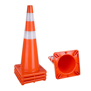 Yescom 4pcs 36-In Road Traffic Safety Cones Reflective Collar