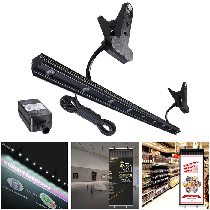 Yescom 9W 27 Inch LED Display Light w/ Clamp for Retractable Banner Stands
