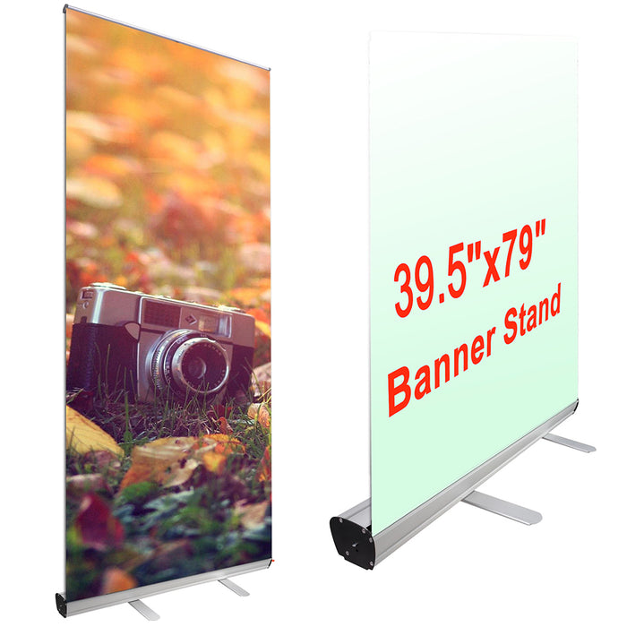 "Yescom Aluminum Trade Show Retractable Banner Stand 39.5"" x 79"""