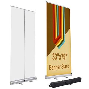 Yescom Aluminum Retractable Banner Stand 33 x 79 in