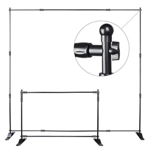 Yescom 8ft Protable Exhibition Jumbo Banner Backdrop Stand