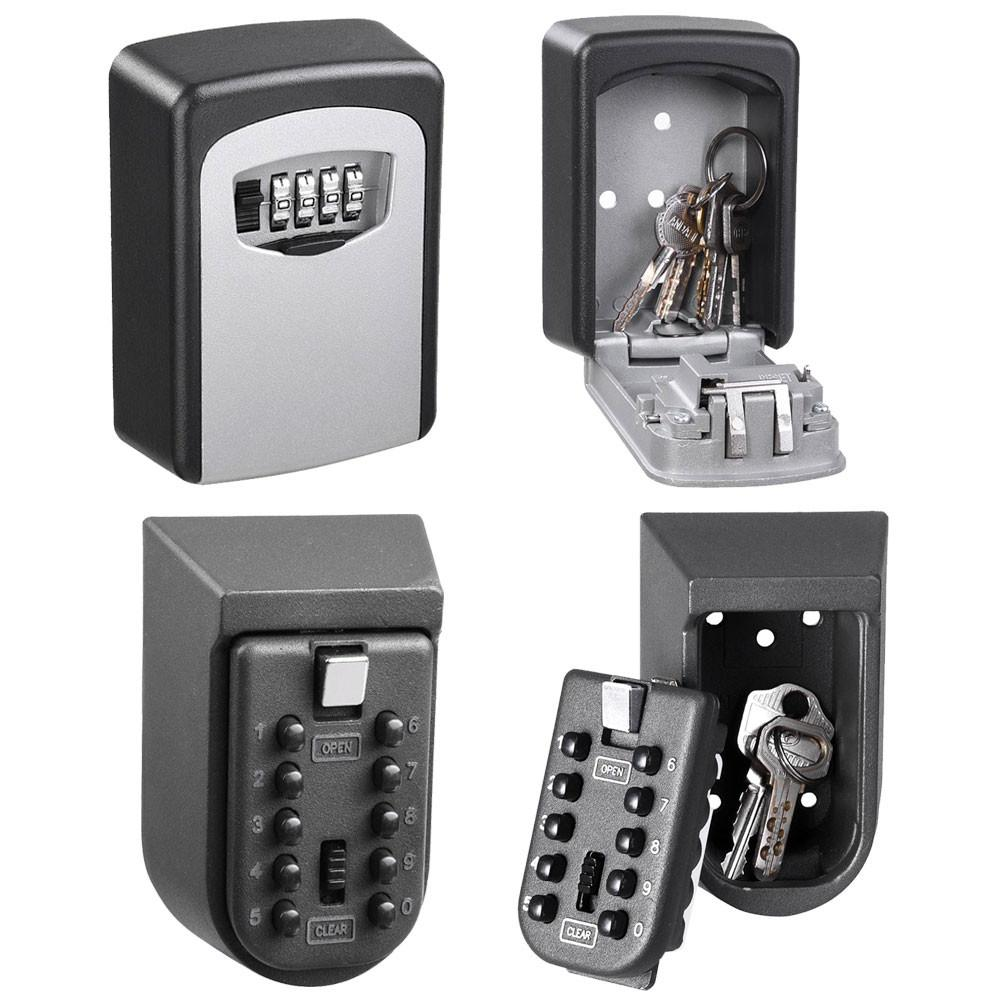 3bc073d65beb Yescom Wall Mount Key Lock Safe Box Storage 4-Digit 10-Digit Optional