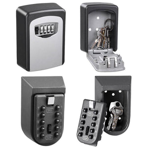 Yescom Wall Mount Key Lock Safe Box Storage 4-Digit 10-Digit Optional