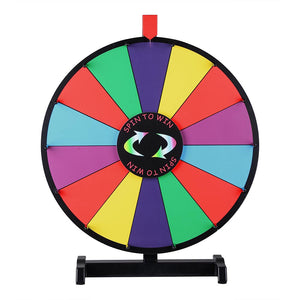 "WinSpin 18"" Tabletop Prize Wheel Dry Erase"