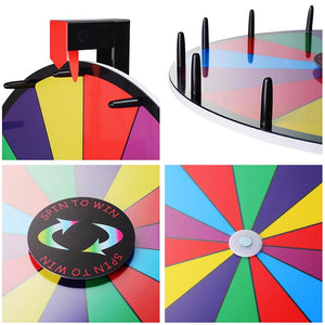 "WinSpin 12"" 15"" 18"" 24"" 30"" Tabletop Color Dry Erase Prize Wheel"