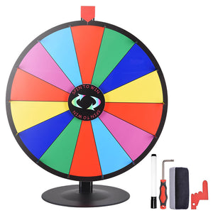 "15"" 24"" Size Opt Table Top Spin Dry Erase Prize Wheel"