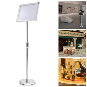 Yescom 8.5 x 11 In Display Poster Pedestal Sign Holder Stand