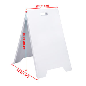 Yescom Dual-Side Sign Frame 19x32 In Sandwich Board w/ Carrying Handle