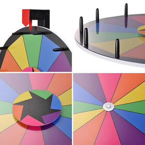 "WinSpin 15"" Tabletop Prize Wheel Dry Erase"