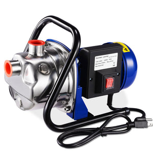 Yescom Water Pump Electric Irrigation Pump Stainless Steel 1.6HP 814gph