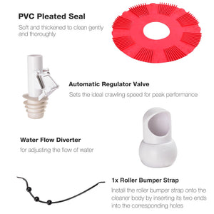 Yescom Automatic Above-Ground Swimming Pool Cleaner Vacuum Red