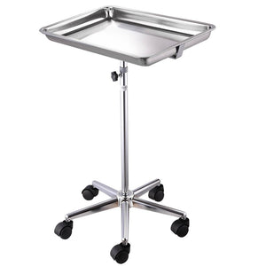 Yescom Mayo Stand Medical Equipment Stainless Steel Tray 5 Legs