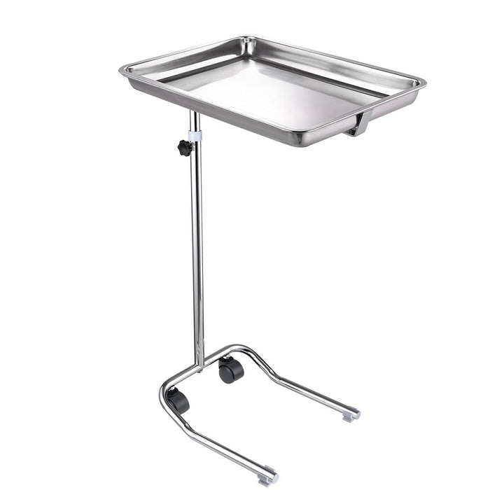 Yescom Mayo Stand Foot Operated Medical Equipment Chrome Pole