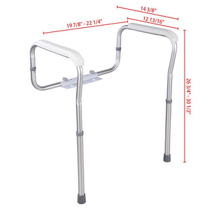 Yescom Handicap Toilet Safety Rail Grab Bar 375lbs Support Adjustable
