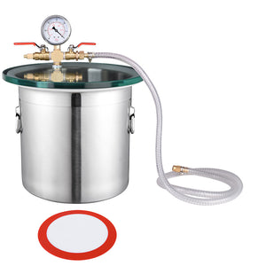 Yescom Degassing Vac Chamber w/ Gasket Lid 3 Gallon Stainless Steel
