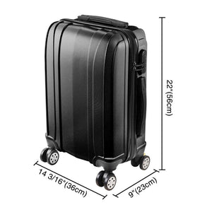 Yescom 20 in Hardshell Carry-on Luggage Suitcase 4-Wheel Spinner Black