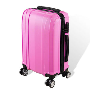 Yescom 20 in Hardshell Carry-on Luggage Suitcase 4-Wheel Spinner Pink