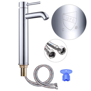"Yescom 12"" Bathroom Bar Sink Vessel Faucet Finish Options"