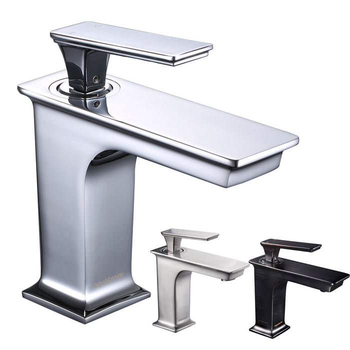 "Aquaterior Bathroom Sink Faucet 1-Handle Cold & Hot, 6.7""H"