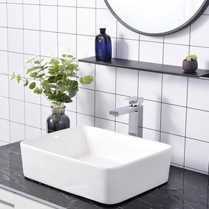 "Aquaterior Bathroom Vessel Faucet Square Cold & Hot 10.4""H"