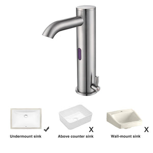 Aquaterior Touchless Lavatory Sink Faucet Hot & Cold 10""