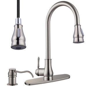 Aquaterior Pull-down Kitchen Bar Faucet Single-handle Finish Color Opt