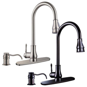Yescom Pull-down Kitchen Bar Faucet Single-handle Finish Color Opt
