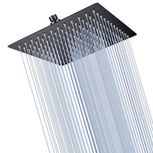 Yescom Bathroom Rain Shower Head Stainless Steel Square Top 10""