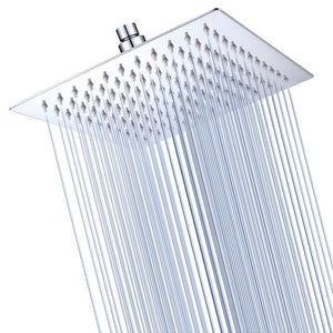 Yescom Bathroom Rain Shower Head Stainless Steel Square Top 8""